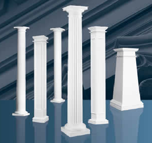 Interior and exterior doors and trim building materials inc for Fiberglass interior columns