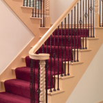 maple stair parts,iron stair railing,iron balluster,lj smith stairway