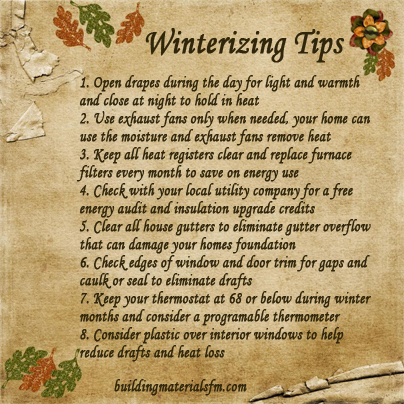 money saving home tips,home winterizing tips,money saving tips,winterizing tips