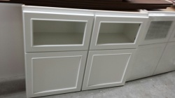 48x36 display cabinets white